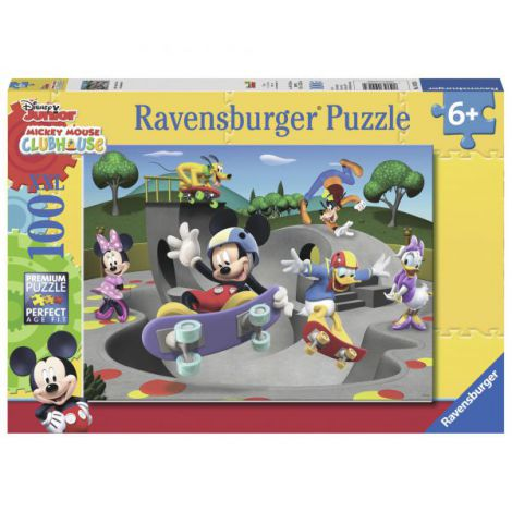 PUZZLE MICKEY CU SKATEBOARD, 100 piese