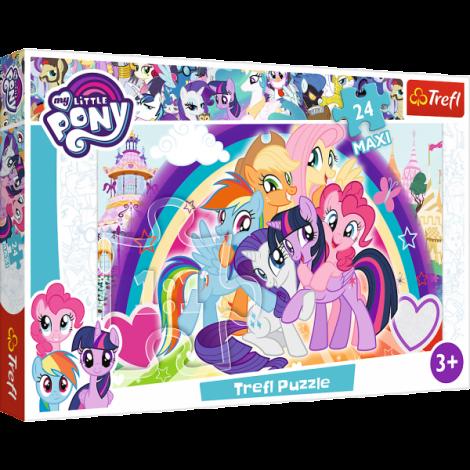 Puzzle Trefl Maxi My Little Pony, Poneii Veseli 24 Piese imagine