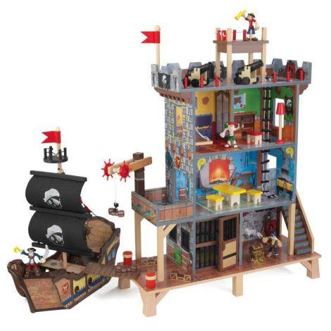 Set De Joaca Din Lemn Cu Casuta Si Nava Golful Piratului imagine