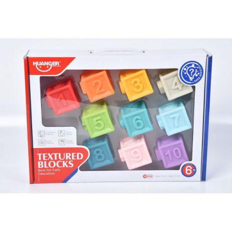 Set 10 Cuburi Soft Cu Cifre Si Culori Diferite