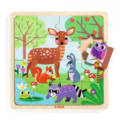 Puzzle lemn Forest Djeco