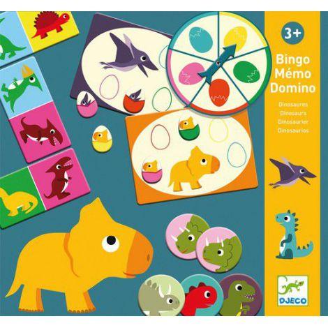 Bingo Memo Domino Dino Djeco