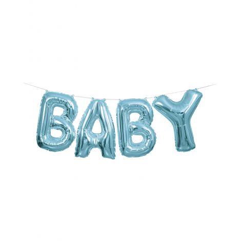 Baloane Ghirlanda Baby Albastru - Marimea 128 Cm imagine