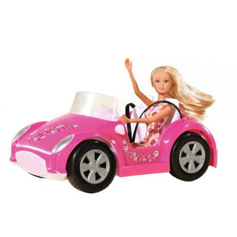 Masina Simba Steffi Love Beach Car Cu Papusa 29 Cm imagine