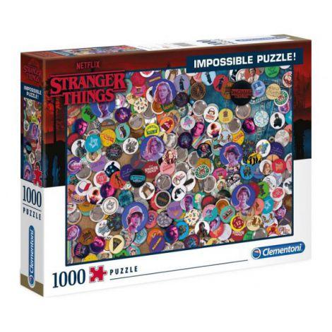 Puzzle Impossible Stranger Things 1000 De Piese Clementoni imagine