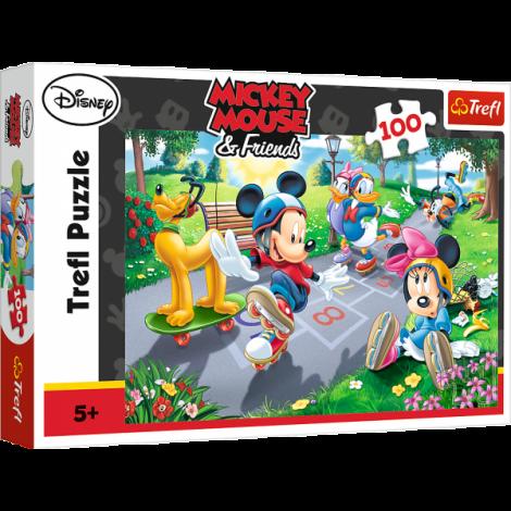 Puzzle Trefl Disney Mickey Mouse, Joaca Pe Role 100 Piese imagine