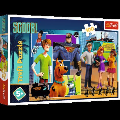 Puzzle Trefl Scooby Doo, Scooby Unde Esti? 100 Piese imagine