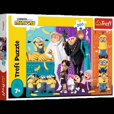 Puzzle Trefl Illumination Minions, Minionii In Actiune 200 Piese imagine