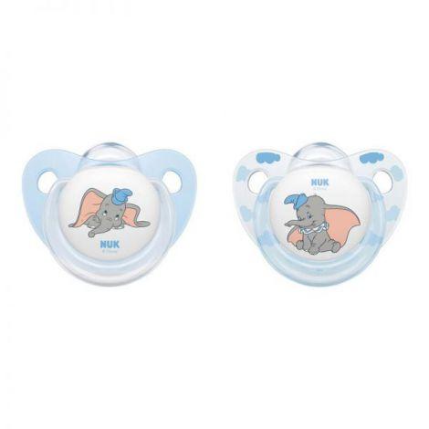 Suzeta Nuk Disney Dumbo Silicon M1 0-6 Luni imagine