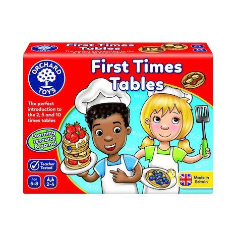 Joc educativ Tabla inmultirii pentru incepatori FIRST TIMES TABLES