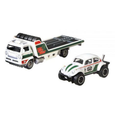 Camion Hot Wheels by Mattel Car Culture Wide Open cu masina Volkswagen Baja Bug