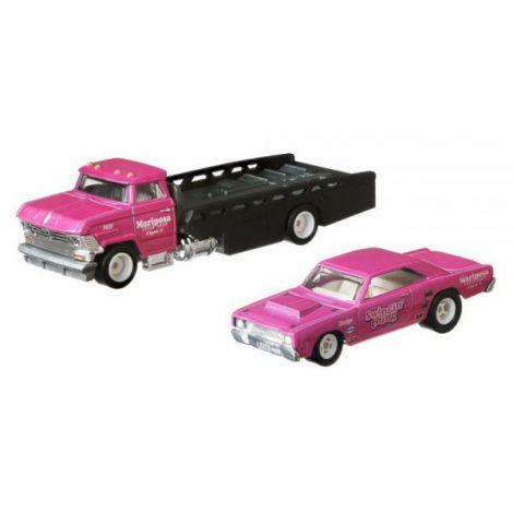 Camion Hot Wheels by Mattel Car Culture Horizon Hauler cu masina Dodge Dart