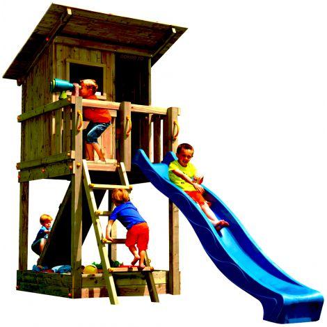 Spatiu de joaca din lemn BeachHut BlueRabbit 2.0