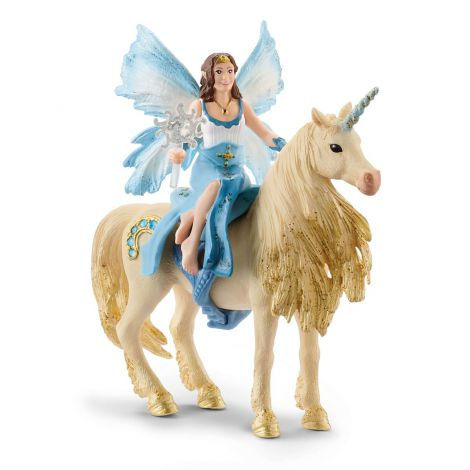 Schleich calaritul lui eyelas pe unicornul auriu