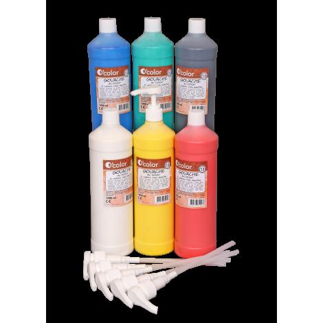 Set scolar 6 culori pentru pictura cu degetele