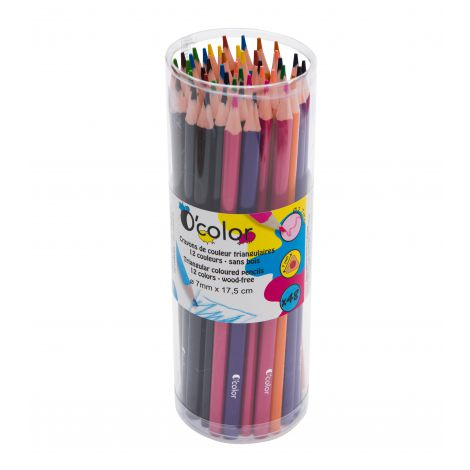 Set 48 creioane colorate triunghiulare