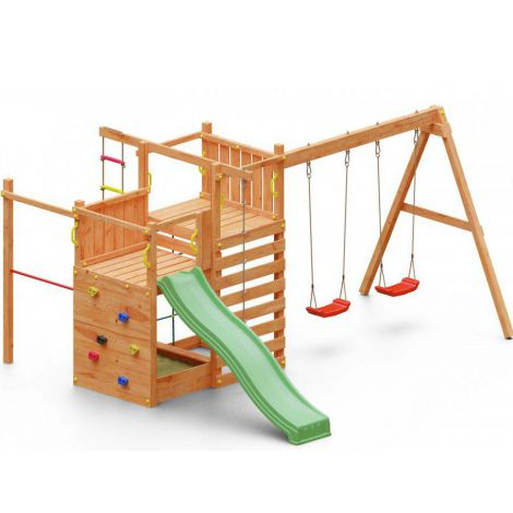 Complex joaca din lemn 5in1 Fungoo Climbing Star 3
