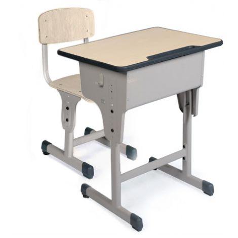 Set banca si scaun scolar individuale cu inaltime reglabila 64 - 79