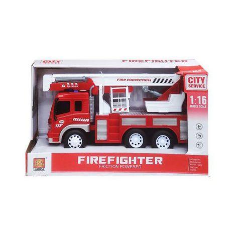 Masinuta Pompieri Cu Frictiune Sunete Si Lumini Scara 1 La 16