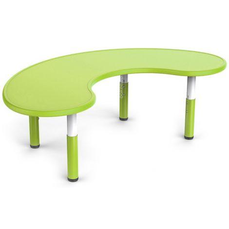 Masa semirotunda verde, din plastic, reglabila, marimea 1-3 pentru gradinita