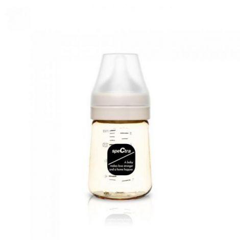 Biberon anticolici premium cu tetina s, galben (160 ml)