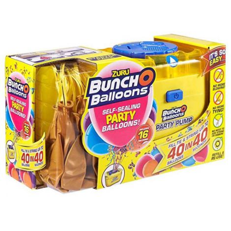 Bunch o balloons set party balloons 16 baloane si pompa - gold