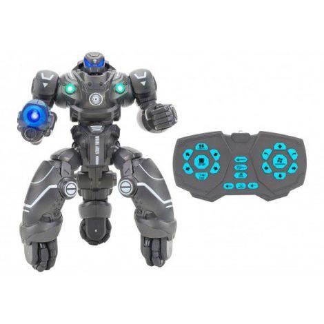 Robot cu telecomanda care merge si danseaza cu sunete si lumini Globo