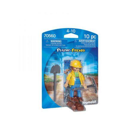 Figurina muncitor in constructii PM70560 Playmobil