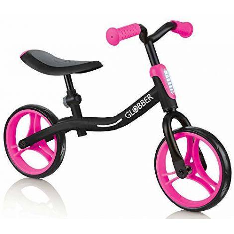 Bicicleta globber go bike fara pedale 8.5 inch roz