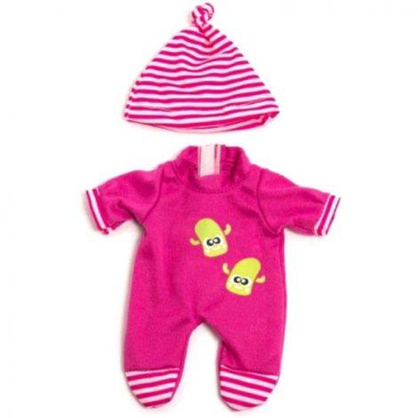 Set pijama si caciulita pentru papusa fetita 21 cm