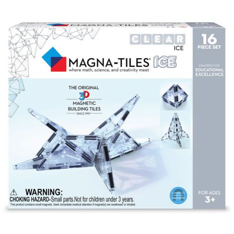 Magna-Tiles ICE Transparent – set magnetic (16 piese)