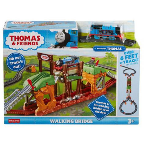 Set Fisher Price by Mattel Thomas and Friends Walking Bridge cu sina si locomotiva motorizata