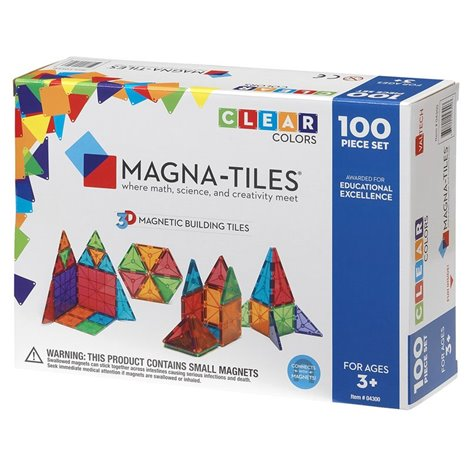 Magna-Tiles Clear Colors set magnetic (100 piese)