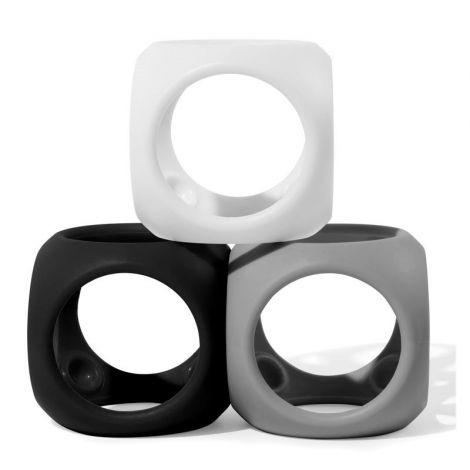Oibo - set 3 jucarii senzoriale flexibile (monocrom)