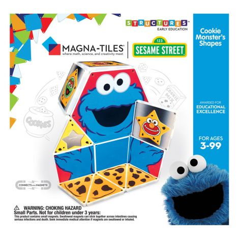 Invata formele, Cookie Monster, Magna-Tiles Structures