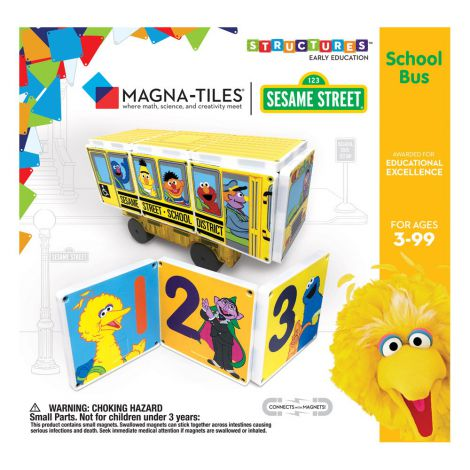 Sesame Street School Bus, Magna-Tiles Structures
