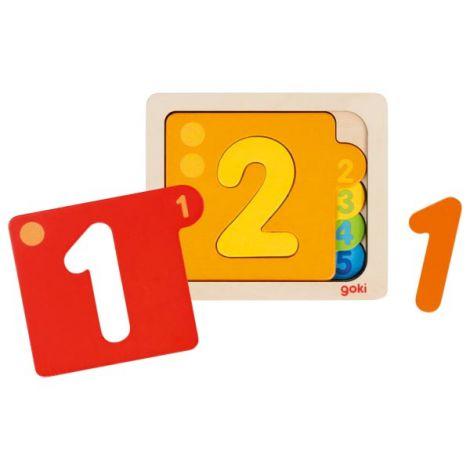 Puzzle stratificat pentru invatarea numerelor