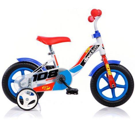 Bicicleta copii pentru 3 - 4 ani, roata Eva 10 inch, Dino Bikes