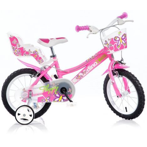 "Bicicleta pentru fetite 16"" Dino Bikes 166R - roz"