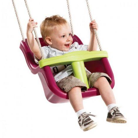 Leagan pentru copii Luxe PP mov - verde