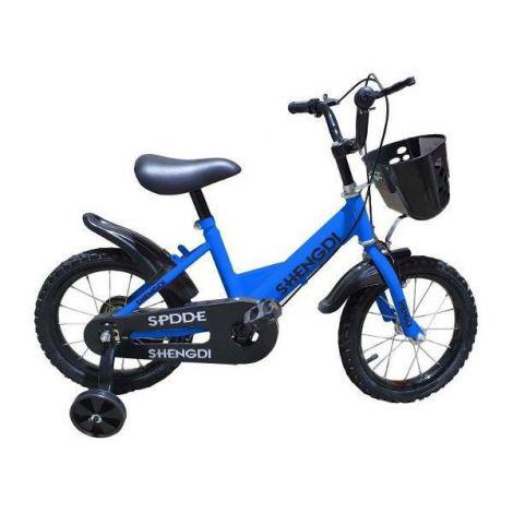 Bicicleta copii albastra 14 inch cu roti ajutatoare