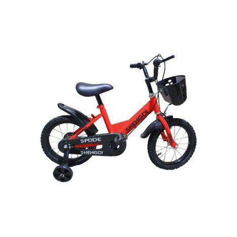 Bicicleta copii rosie 14 inch cu roti ajutatoare