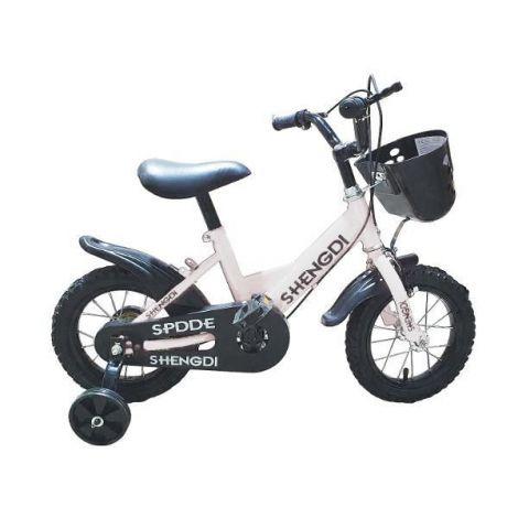 Bicicleta cu pedale si roti ajutatoare accesorii sa realizata din material eco 2 sisteme de franare Marime roti 30 cm 12 inch