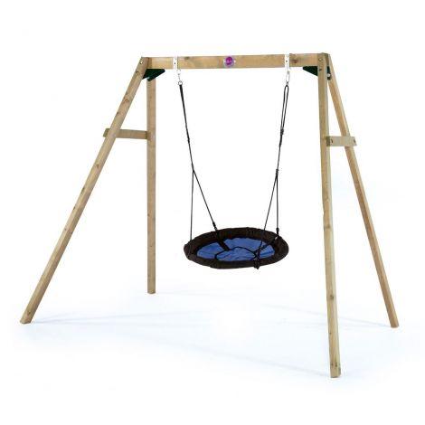 Leagan din lemn pentru copii Nest Swing Set Plum