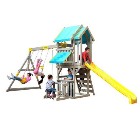 Complex de joaca din lemn de cedru Seacove Deluxe Kidkraft F29075