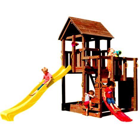 Spatiu de joaca din lemn Penthouse BlueRabbit 2.0