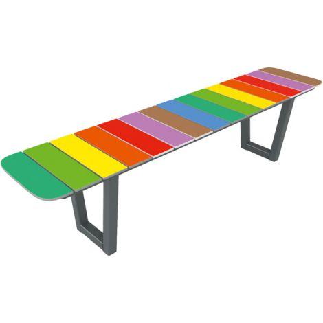 Banca Rainbow simpla pentru exterior