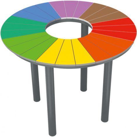 Masa rotunda Rainbow pentru exterior