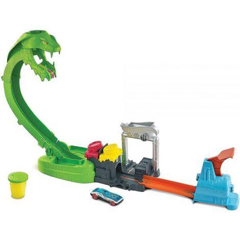 Pista de masini Hot Wheels by Mattel City Toxic Snake Strike cu masinuta si slime