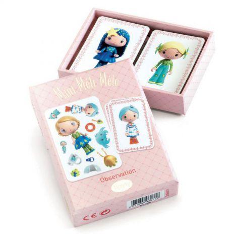 Joc de carti Djeco Mini Meli-Melo, printesele Tinyly